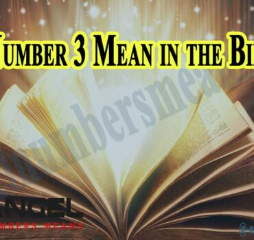 Number 3 Mean in the Bible