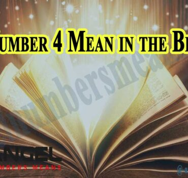 Number 4 Mean in the Bible