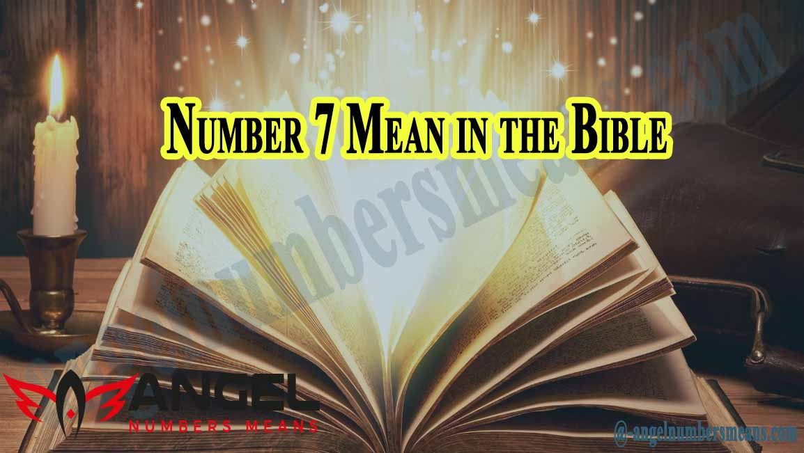 Number 7 Mean in the Bible